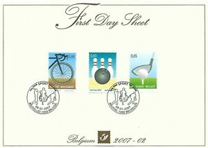 [FDS217] Belgium FDS 2007-02 Sport Cycling First Day Sheet SUPERB