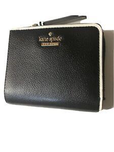 Kate Spade Patterson Dr Colorblock L-zip Bifold ID Wallet in Black White