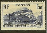 "FRANCE STAMP TIMBRE YVERT N°340 "" CHEMIN DE FER LOCOMOTIVE PACIFIC"" NEUF xx LUXE"