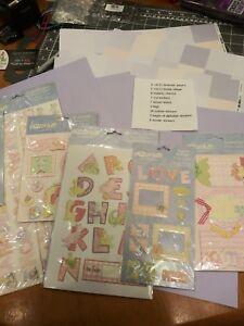 Baby Shower Boy Girl Scrapbook Page Kit Paper die cut sticker tag charm label
