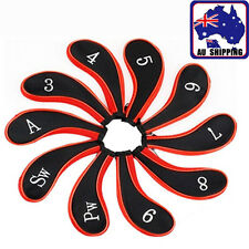 10pcs A Set Golf Club Caps Iron Putter Head Covers Protect Neoprene OBGO21333