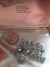 Silver Tone Brooch A Beautiful Rhinestone 1950's