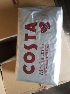COSTA Coffee Beans 1kg Mocha Italian Slow Roasted Coffee Beans BB 04.22