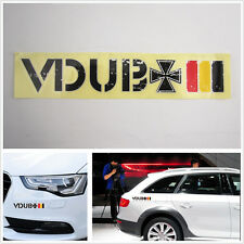 Car stickers VDUB Cross logo personalized & Germany National Flag Match colors