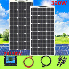 300W flexible Solar Panel Kit with 20A Solar controller for Boat Caravan Home RV