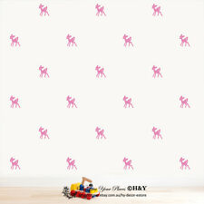 Set of 32 Pcs Bambi Wall Stickers Nursery Decal Kids Decor Art Mural Removable