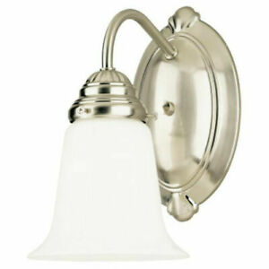 Westinghouse 66496 One-Light Interior Wall Fixture, Brushed Nickel (I/T)