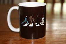 Beatles Inspired Abbey Road -  Black on White Ceramic Coffee Mug 11 oz