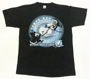 Vintage Logo 7 NHL Tampa Bay Lightning Hockey T-Shirt Black L Tee