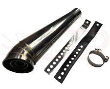Cafe Racer Exhaust Muffler Prix Race  Cone Megaphone Stainless Steel