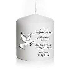 Personalised Christening Confirmation Baptism Candle Keepsake Boy or Girl Gift