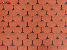 Dachschindeln 24m? Biberschindeln Ziegelrot (8 Pakete) Schindeln Dachpappe Biber
