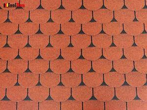 Dachschindeln 3 m? Biberschindeln Ziegelrot (21 Stk) Schindeln Dachpappe Bitumen