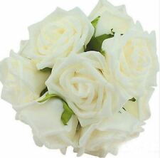 6 Foamrosen Schaumrosen Rosenköpfe Rosenblüte Rose Flowers Blumen Stiel Blätter