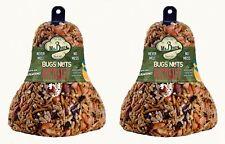 2-Pack of Mr. Bird Bugs, Nuts, Fruit Wild Bird Seed Bell 12.5 oz.