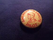 AMERICAN AIR CADETS PILOT Pinback Button  Vintage Aviation Pin