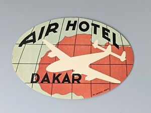 New Vintage Air Hotel Dakar Luggage Suitcase Label From a Private Collection NOS