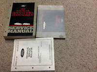 1995 FORD LINCOLN TOWN CAR  Repair Workshop Service Shop Manual Set W EVTM TSB