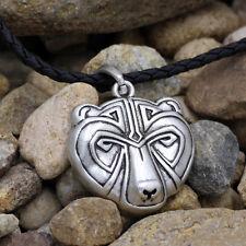 Viking Bear Head Necklace Pendant Celtic Animal Jewelry