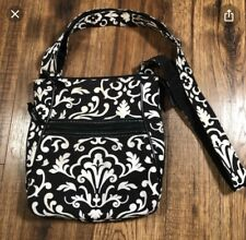 Thirty One cross-body shoulder black white Parisian Pop  organizing bag purse