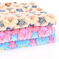 50*80CM Pet Dog Cat Rest Blanket Mat Puppy Fleece Soft Warm Sleep Bed Cushion wd