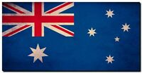 "Australia Flag CANVAS ART PRINT 24""X16"" Grunge Abstract poster"