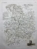 Ille et Vilaine en 1836 Tour Solidor à Saint Servan Fougères Antrain Pleurtuit