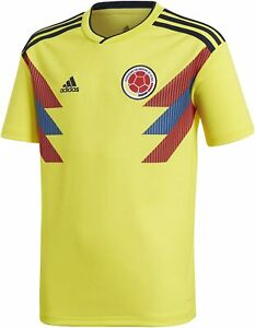 adidas Boys' Colombia 2018 Home Replica Jersey (Yellow/Blue,Medium Youth) BR3509