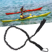 Kayak Canoe Paddle Rod Leash Safety Rope Carabiner Rowing Boats Accessor zc