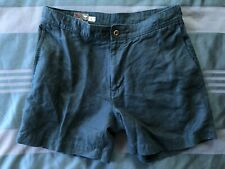 Polo Ralph Lauren 32 waist Medium Linen/Cotton Navy Nautical Side Buckle Shorts