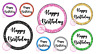 Happy Birthday Party Glitter Style Sweet Cone Birthday Cake Box Gift Seal Hamper