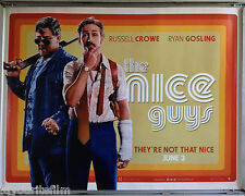 Cinema Poster: NICE GUYS, THE 2016 (Quad) Russell Crowe Ryan Gosling Keith David