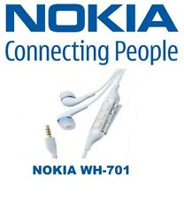 NOKIA HEADSET ORIGINAL EARPHONES WH-701 WHITE FOR N76 N78 N79 N8 N81 N82 N85