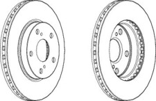 Pair Of Coated Brake Discs Ferodo DDF1789C