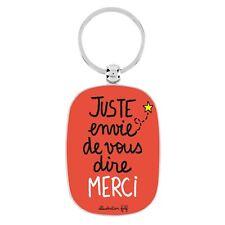 """Porte-clés Original """"merci"""" pour Homme Femme remerciements DLP Derrière la Porte"""