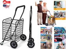 Carrito compras con ruedas giratorias dobles: liviano, tiene capacidad para 70L/