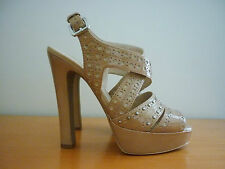 WOMEN'S WITCHERY NUDE PATENT LEATHER PLATFORM HIGH HEEL SHOES - SIZE 40 - NWOT