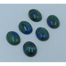 6 PACK Wholesale Natural Blue Green Azurite Oval Cab Cabs Cabachon 13 X 18mm