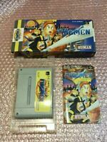 Nintendo SUPER Famicom THE FIREMEN box manual HUMAN tested and working SFC SNES