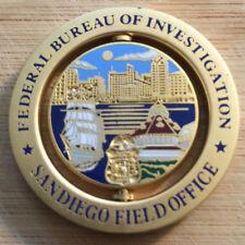 FBI San Diego Field Office SPINNER challenge coin