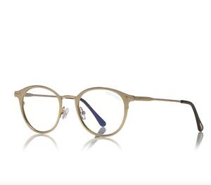 TOM FORD FT5528-B 029 Eyeglasses Gold Frame 49mm Blue Block Collection