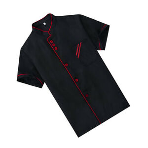 Unisex Chef Coat Restaurant Working Jacket Women/Men Cook Uniform Short Sleeve