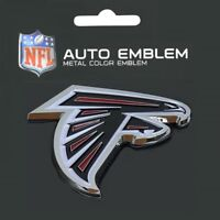 Atlanta Falcons Heavy Duty Metal 3-D Color Auto Emblem