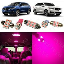 14x Pink Interior LED Lights Package Kit for 2014-2017 Acura MDX +Tool AM3P