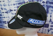 Vintage Ritchey Cycling Cap PACE Black Bicycling WCS Hat USA made Sportswear