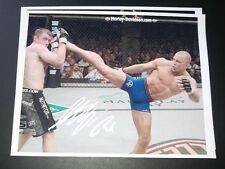 UFC Signed Georges rush St Pierre GSP Autographed Photo MMA 8x10