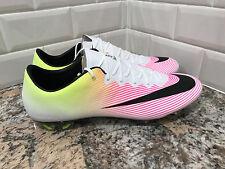 Nike Mercurial Vapor X FG Men Soccer Cleats Football White Volt 648553-107 SZ 12