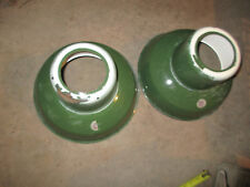 Vintage Green Porcelain Enamel Barn Shop Bulb Light Lamp Shades