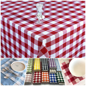 Gingham Check4cm Tablecloths Kitchen Dining Table Covers Rectangle Square Round