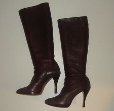 BEAUTIFUL KENNETH COLE DARK BROWN LEATHER BOOTS SIZE 10M